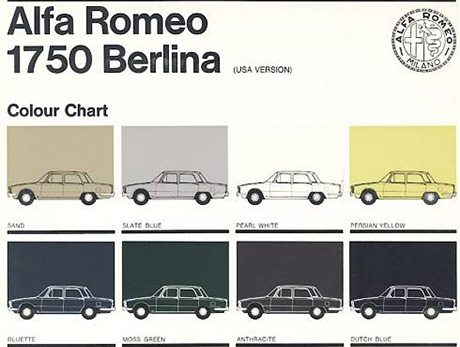 Catalogo Colour Chart 1969