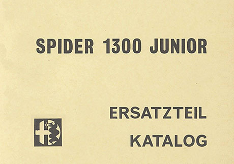 Catalogo Spider 1300 Junior Tedesco