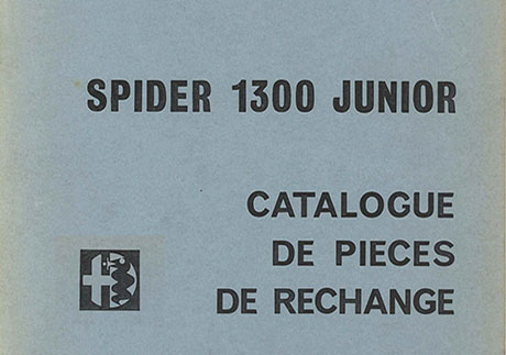 Catalogo Spider 1300 Junior Francese