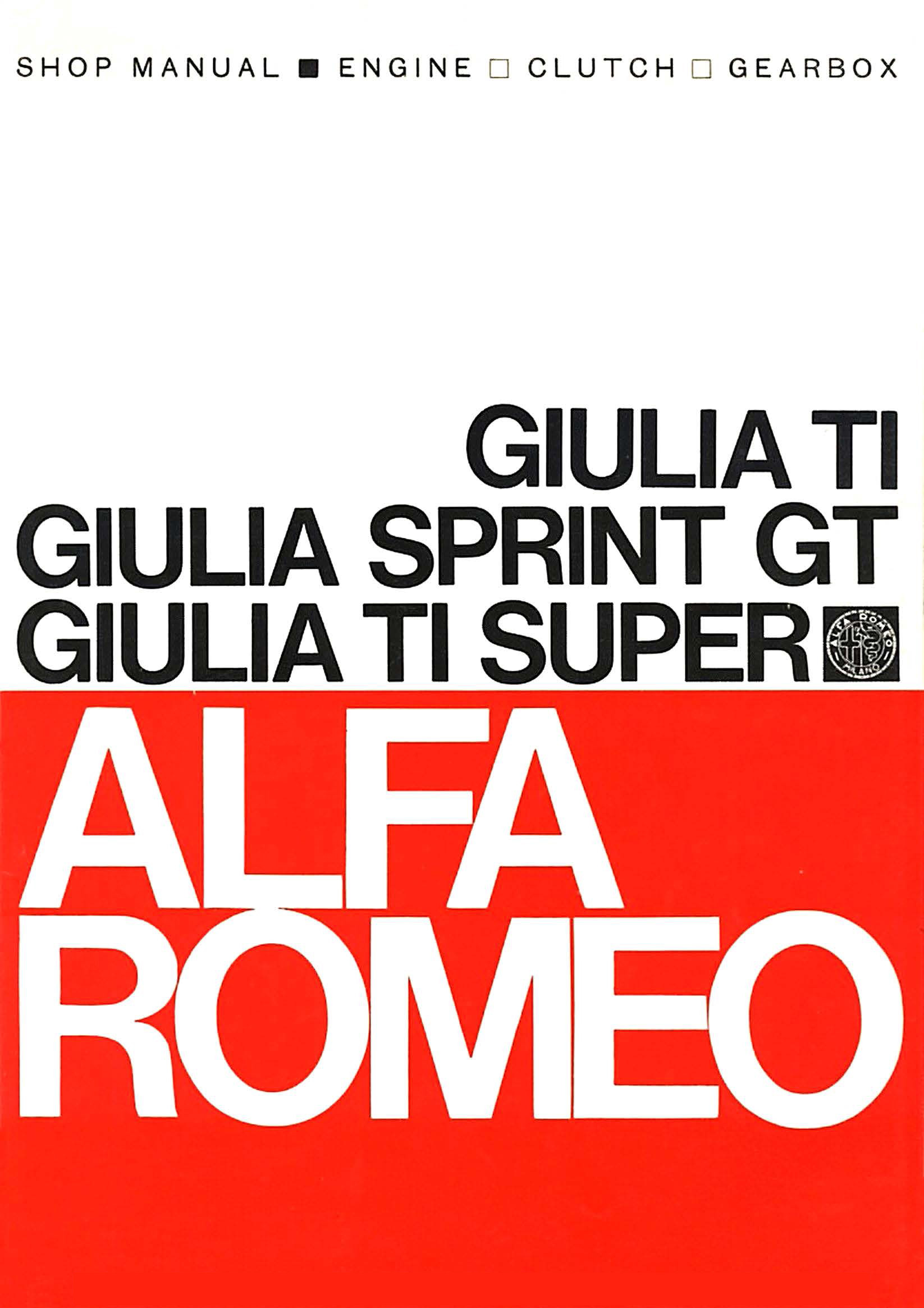 Catalogo Giulia TI - Sprint GT - TI Super UK