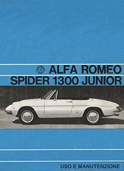 Catalogo Spider 1300 Junior 1968